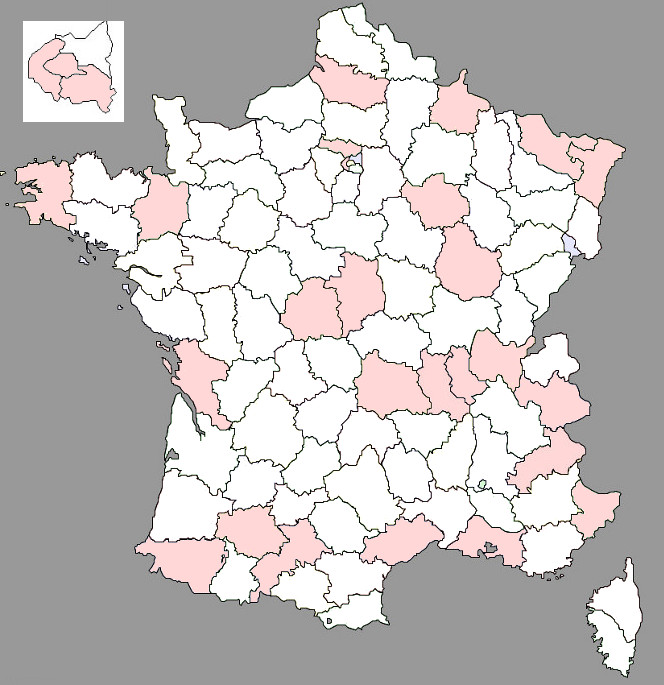 France départements site